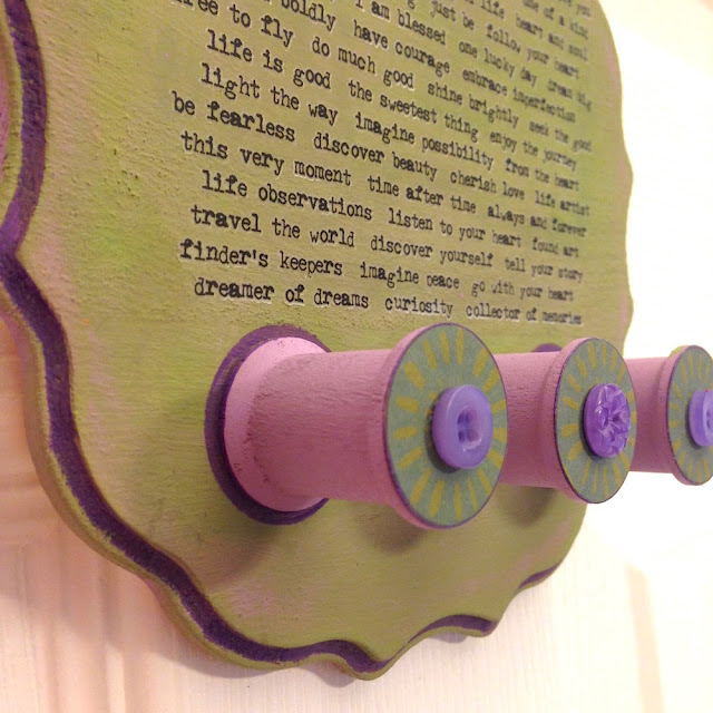 vintage wood spools jewelry hanger