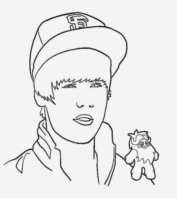 Justin Bieber Coloring Print Out Coloring Pages