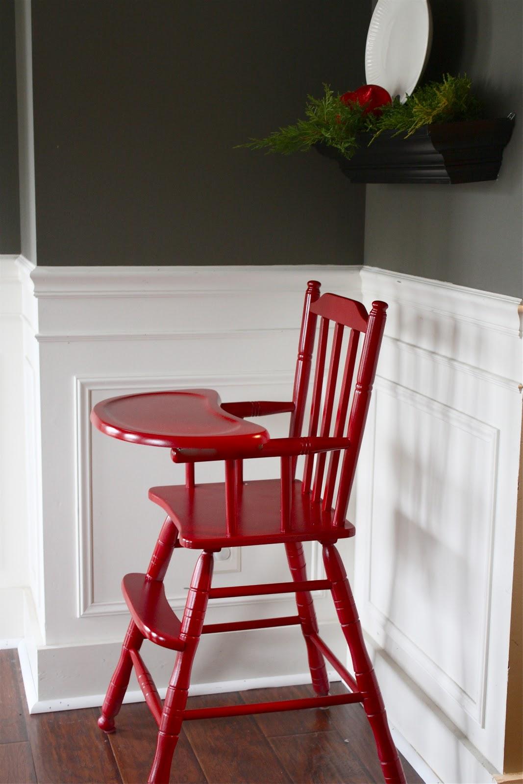 Painted wood high chair - Painted Wood High Chair 32