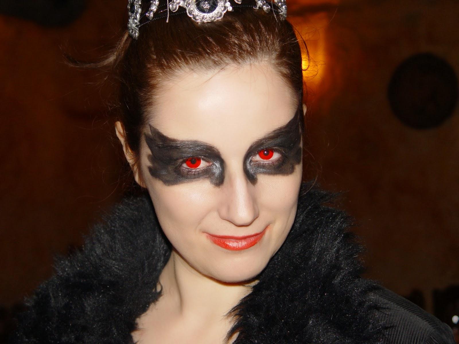 halloween cisne negro maquillaje make up black swan costume