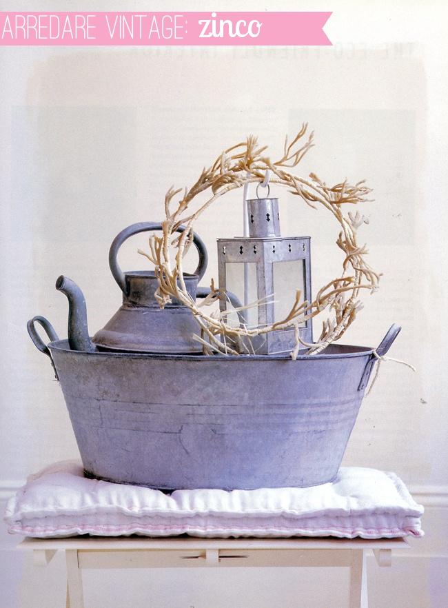 Arredare vintage: gli oggetti in zinco.