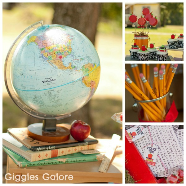 Back to school party kara 39 s party ideas the place for for Back to school decoration ideas