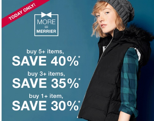 Gap More The Merrier Up To 40% Off Promo Code