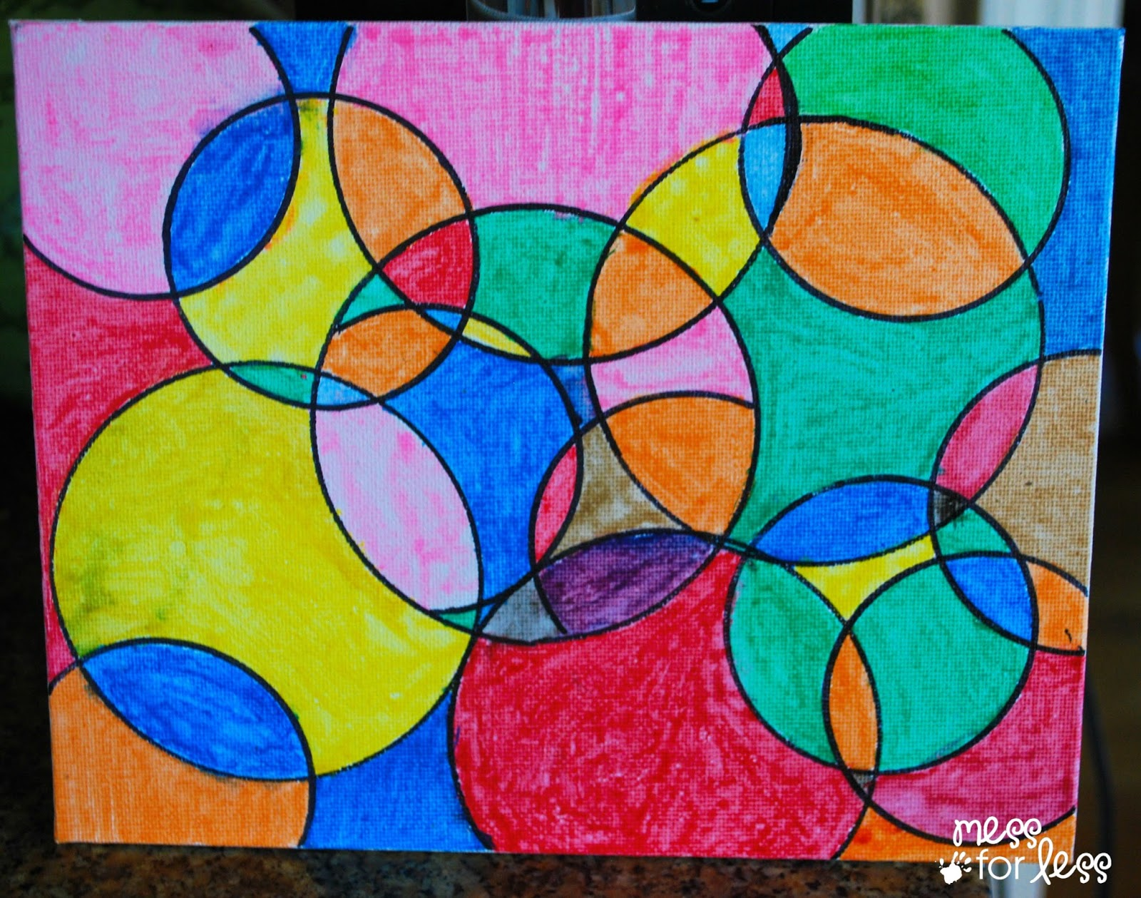 Kids Art Projects Watercolor Circle Art  - Circle Art