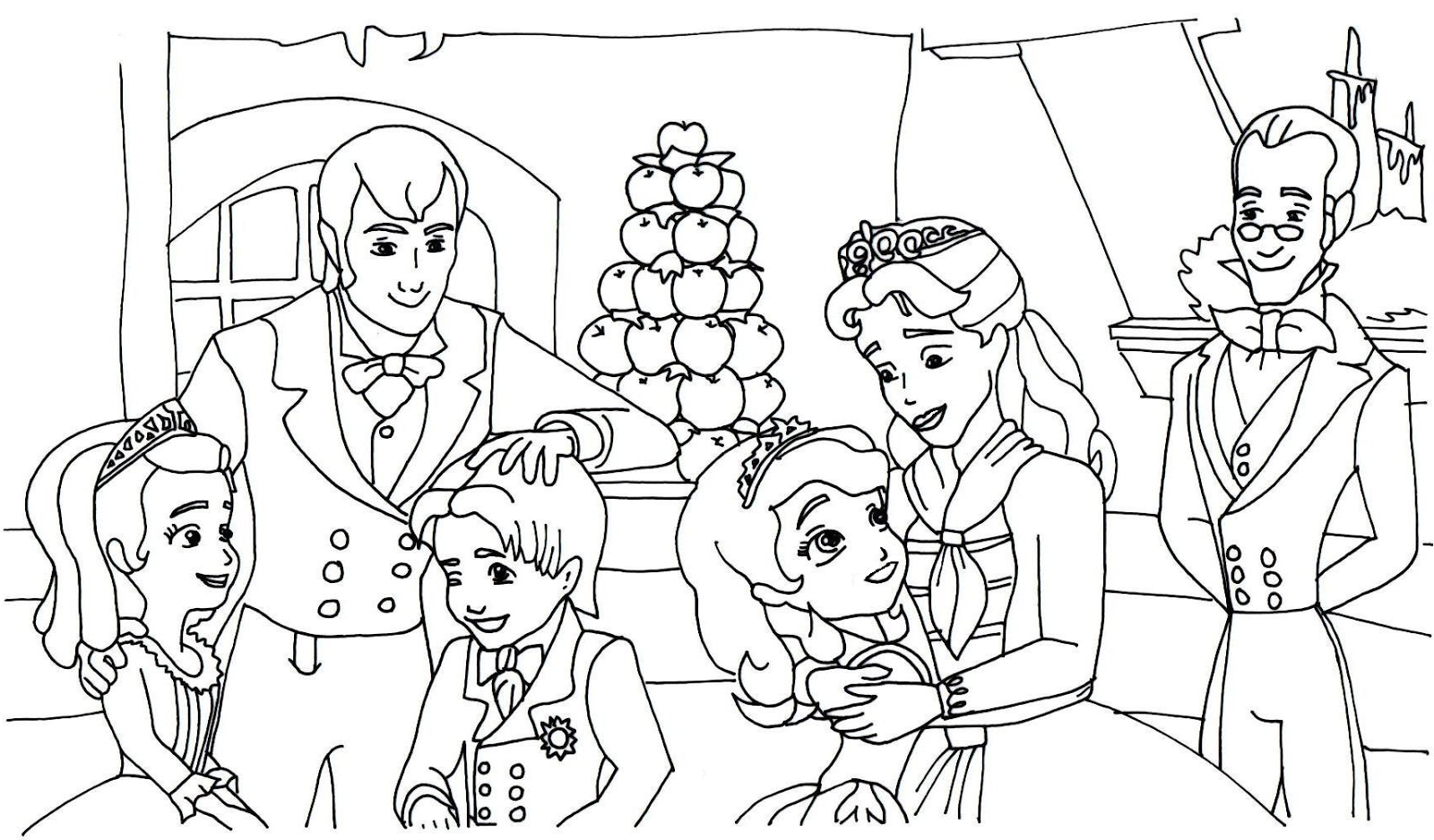 the first family coloring pages - photo#14