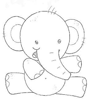risco de elefante para fraldas