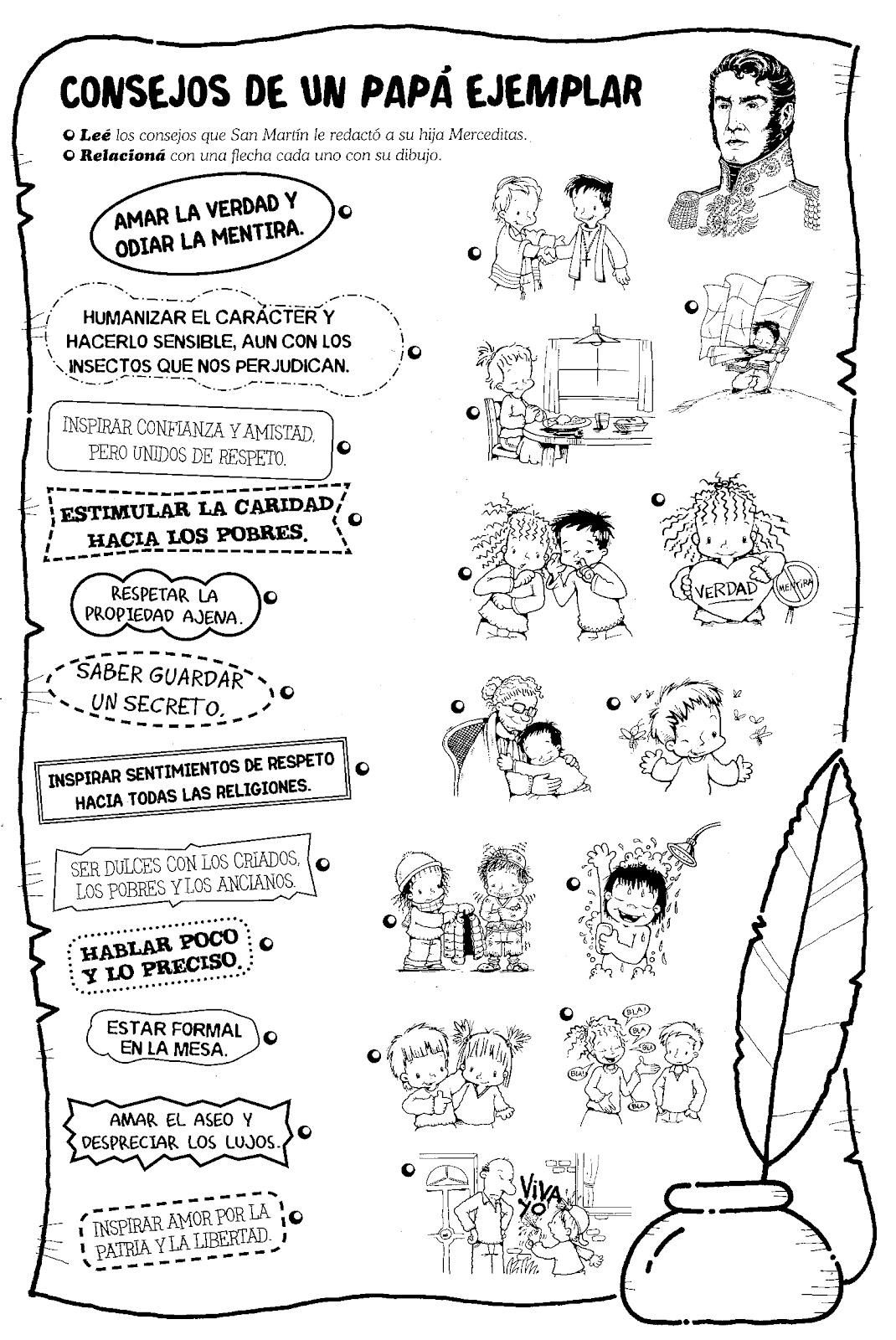 LAMINAS COLEGIALES PARA IMPRIMIR Y RECORTAR General Don Jos de