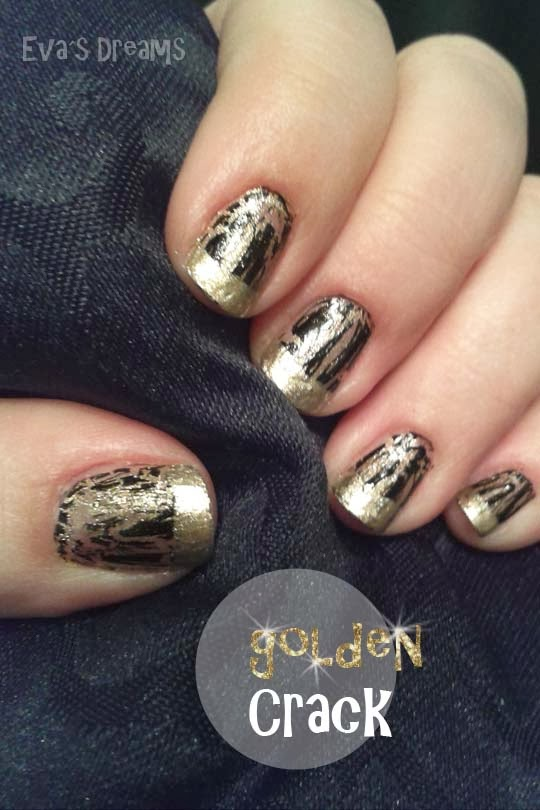 Nails of the week. Nail art design - golden Crack