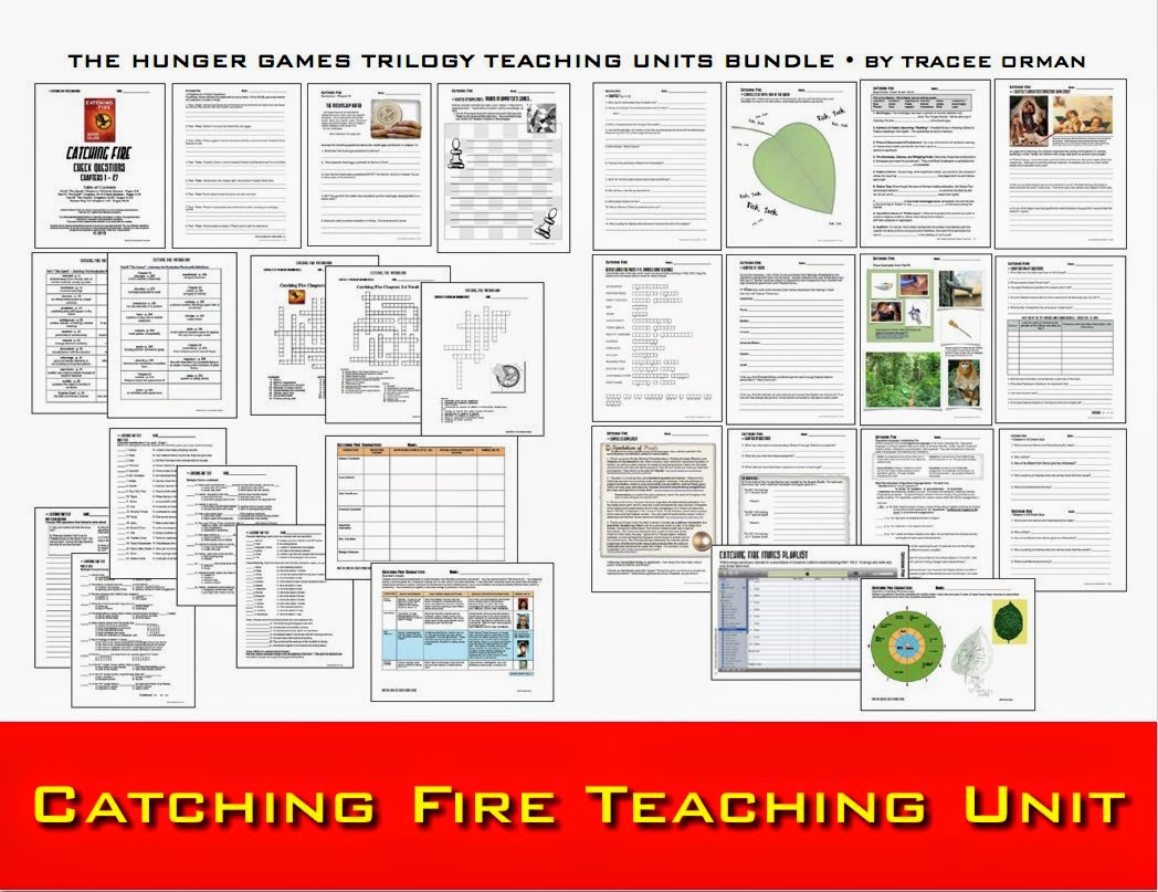 hunger games lessons the hunger games trilogy novel units bundle catching fire novel unit