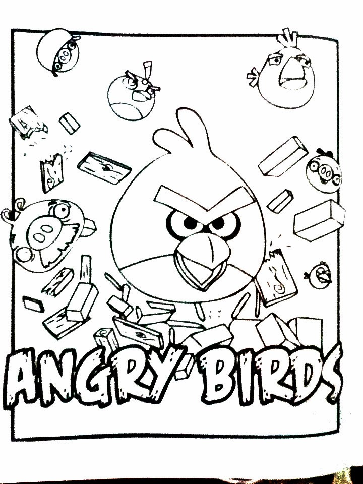 Dibujos de Angry Birds para pintar ~ Dibujos para Niños