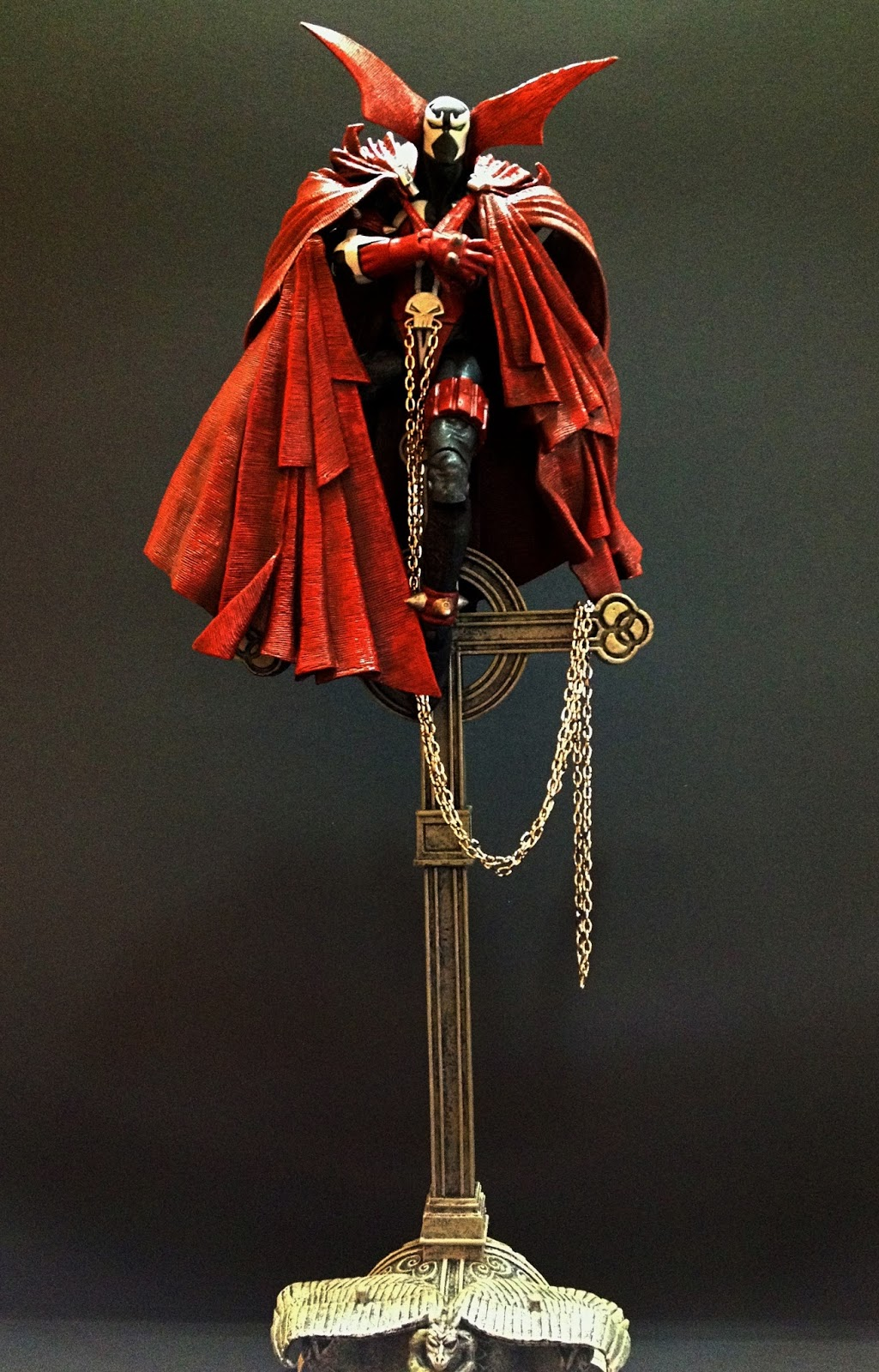 No Figure Red Battle Damage Cape for McFarlane Toys Spawn