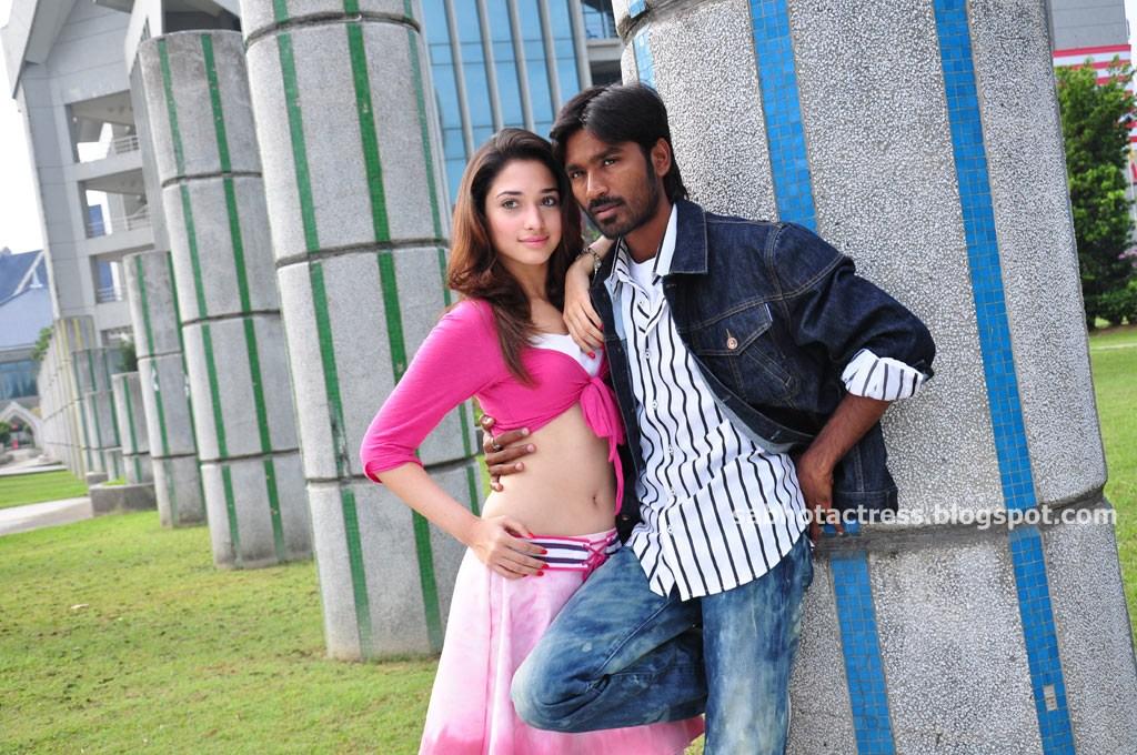 sab hot actress tamanna hot navel and sexy thigh show in vengai movie