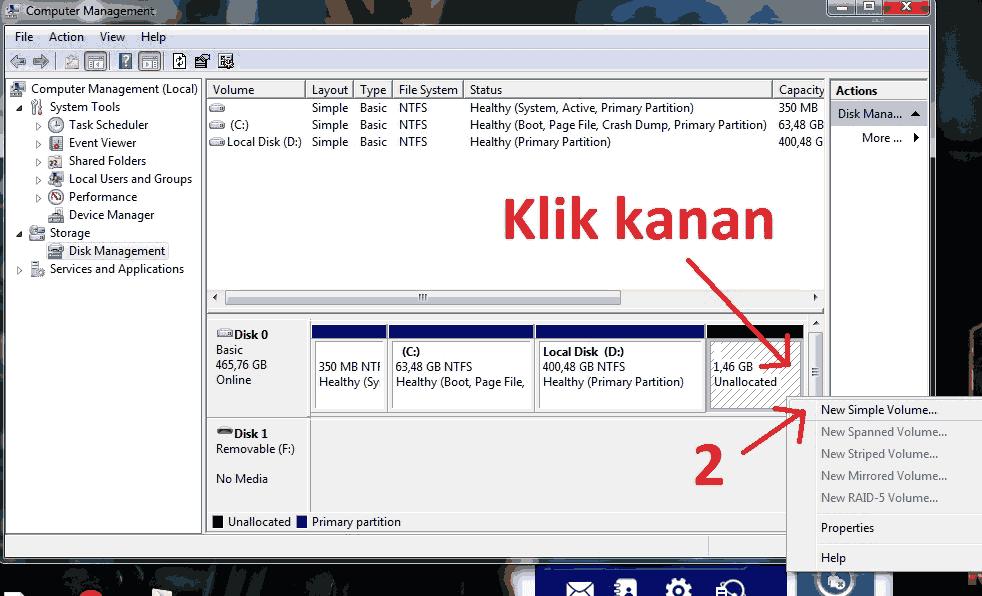 Cara Mudah Membuat Partisi di Windows 7 & 8 Tanpa Instal Ulang ...