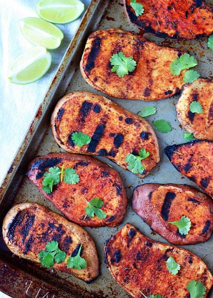http://www.kitchentreaty.com/smoky-grilled-sweet-potatoes-with-cilantro-lime/
