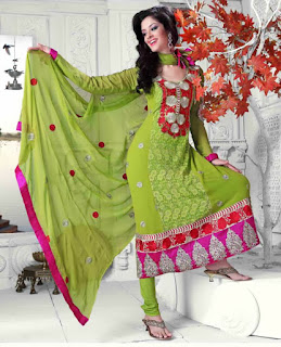 Green Anarkali Suits online