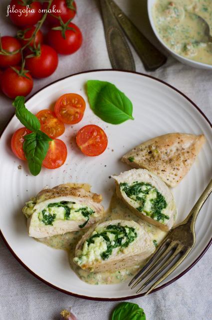 Filety z kurczaka ze szpinakiem