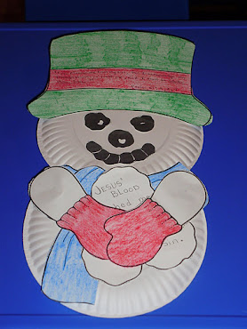 Paper Plate Snowman  (view #2)