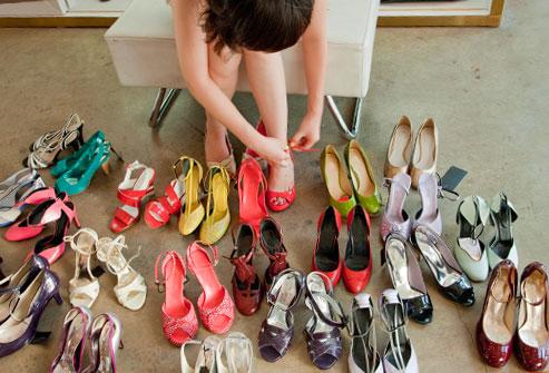 les femmes et les chaussures