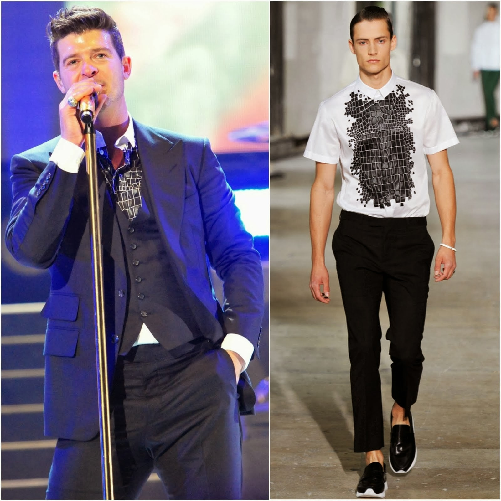 Robin Thicke in Kris Van Assche - 'Blurred Lines Tour' Washington, D.C