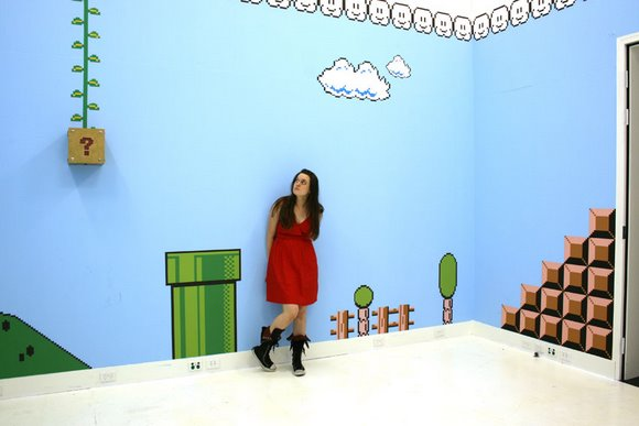 Habitaciones al estilo de Mario Bros, muy geek impresionante