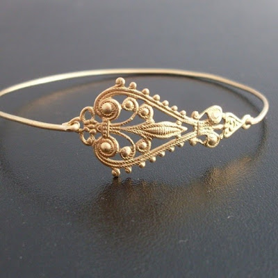 Filigree Bracelet Golden Jewellry