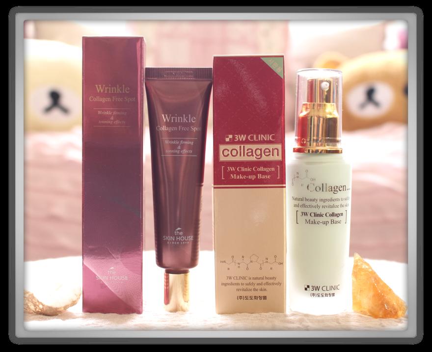 겟잇뷰티박스 by 미미박스 memebox beautybox Superbox #33 Collagen box unboxing review preview The skin house wrinkle collagen free spot  3w clinic make-up base
