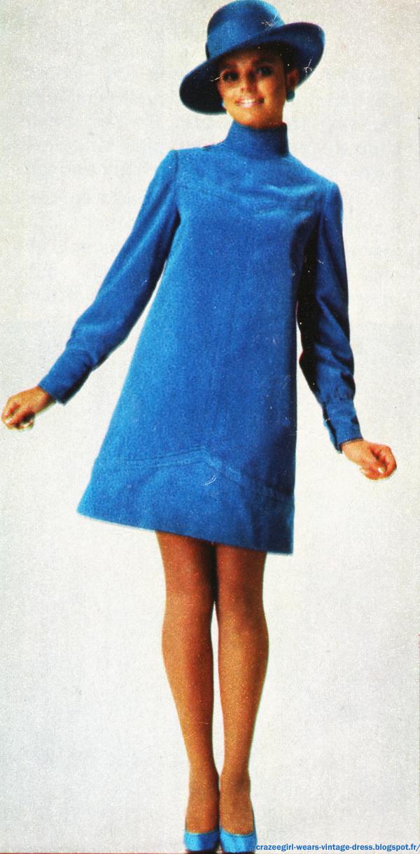 blue velvet Christian Dior 1966 60s 1960 mod