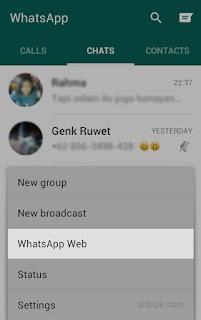 Whatsapp web - Cara Menggunakan Whatsapp di Komputer (PC atau Laptop)