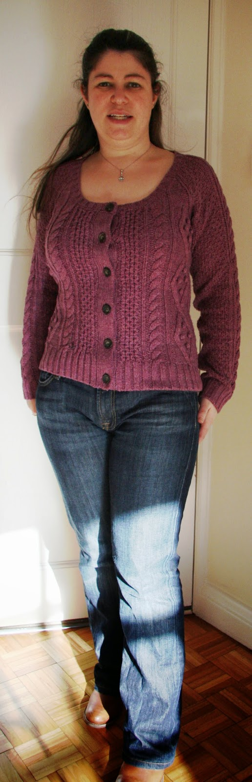 Fat Face Kelsey Cardigan, Pansy Purple