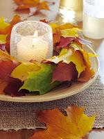 есенна украса с листа