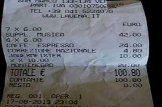 cento euro per qualche caffè? confesso, la cosa non mi indigna. manco un poco.
