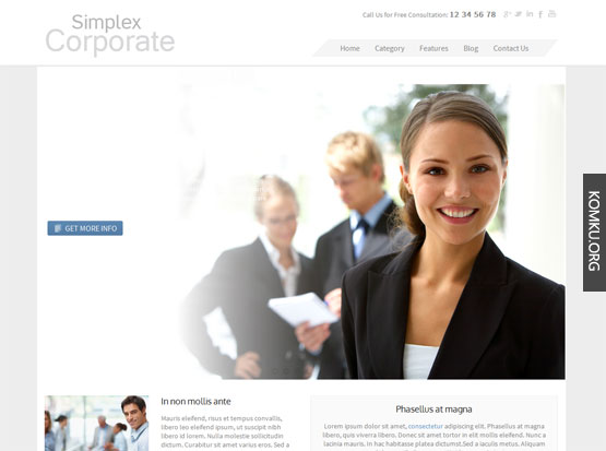 Simplex corporate Blogger template