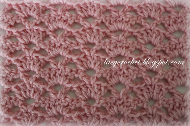 Lacy Crochet Alternating Shells Crochet Stitch
