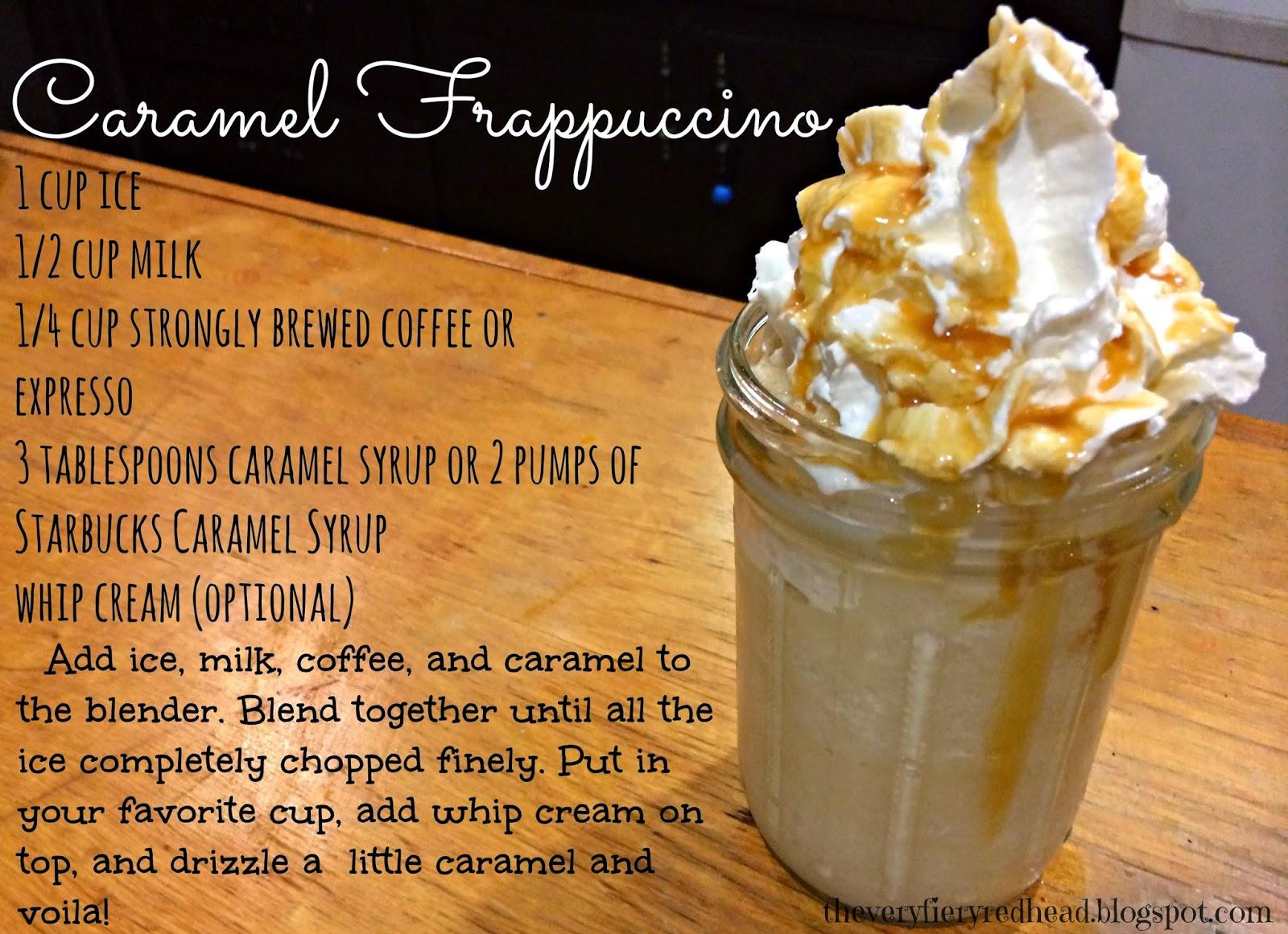 Make Starbucks Caramel Frappuccino At Home