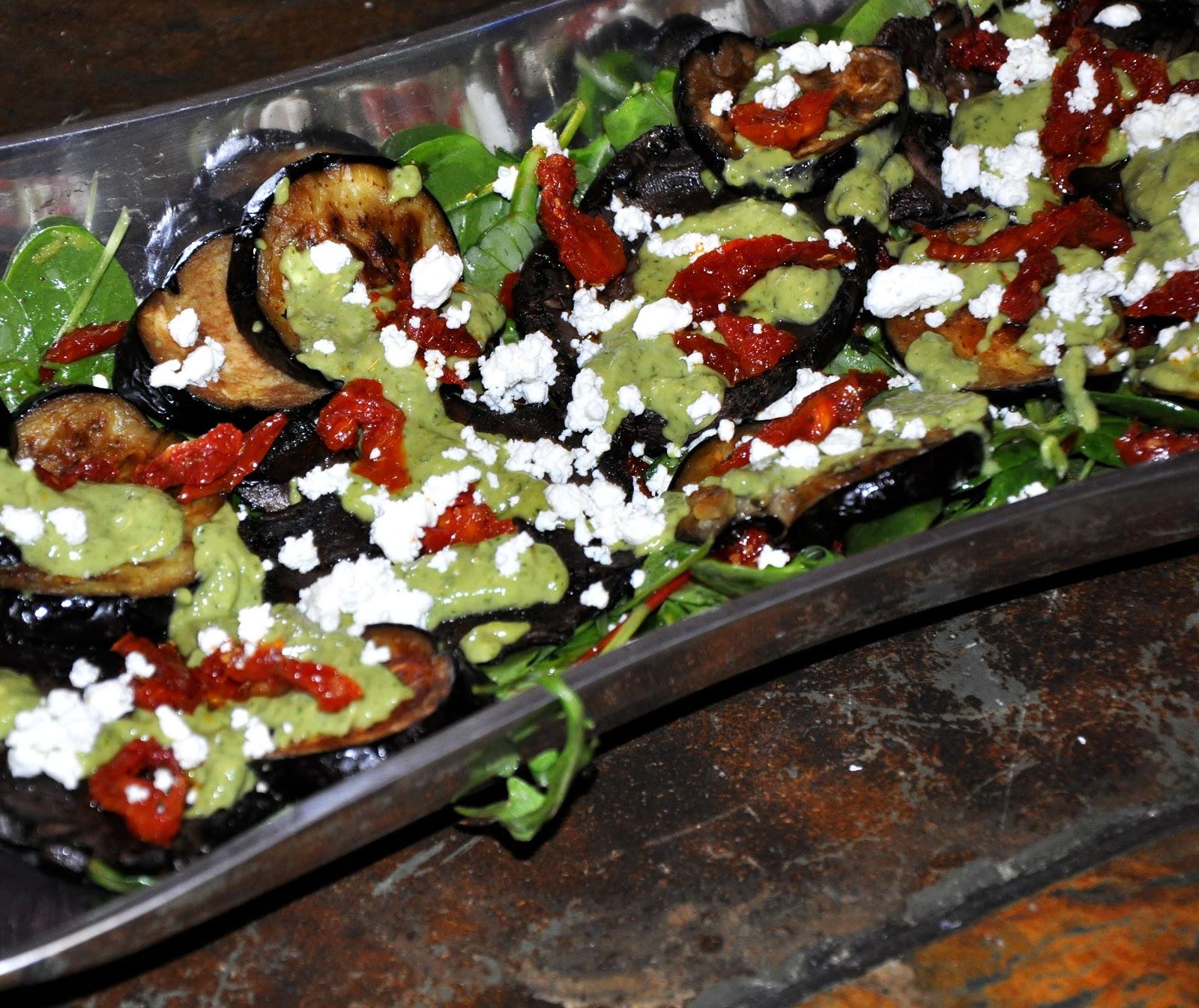 Secrets of a Foodie: Roasted Eggplant and Portabella Mushroom Salad