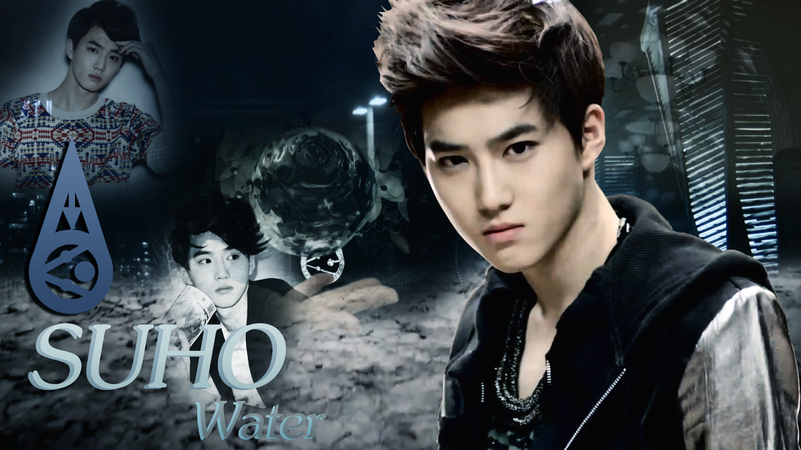 Exo Suho Water Wide Screen Wallpapers
