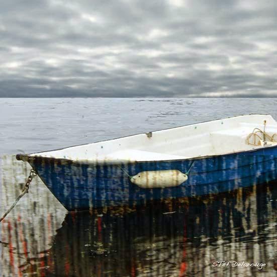 portivy quiberon mer stef delarouge bord de mer bateau photo création numerique