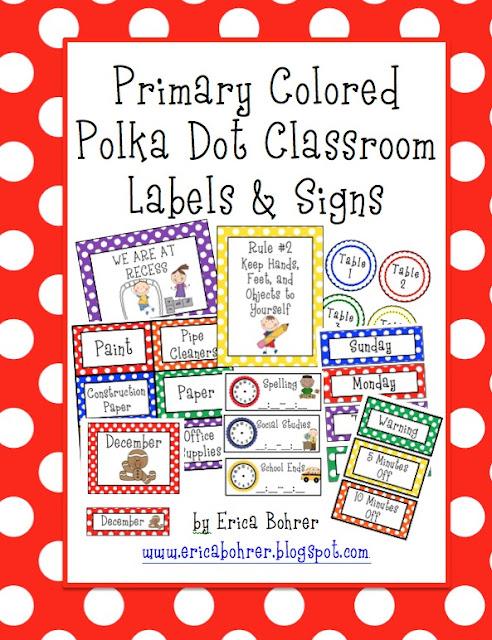 Classroom Decor Polka Dots ~ Bright polka dot classroom decor updates