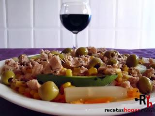 Recetas de cocina: Ensalada mediterránea - Finalizado