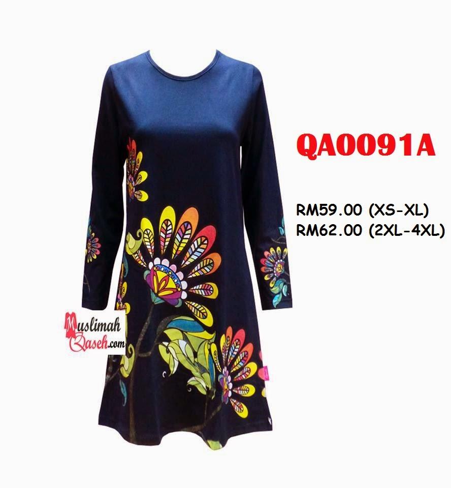 T-Shirt-Muslimah-Qaseh-QA0091A