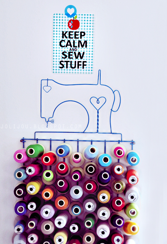 keep calm and sew stuff postcard by jolijou