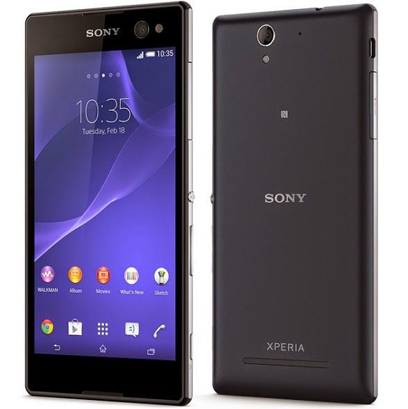 Harga spesifikasi Sony C3 Smartphone Bagi Pencinta Selfie
