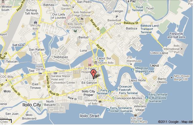 UbLA RUTA ILONGGA Iloilo City Jeepneys Street Guidebu - Iloilo city map