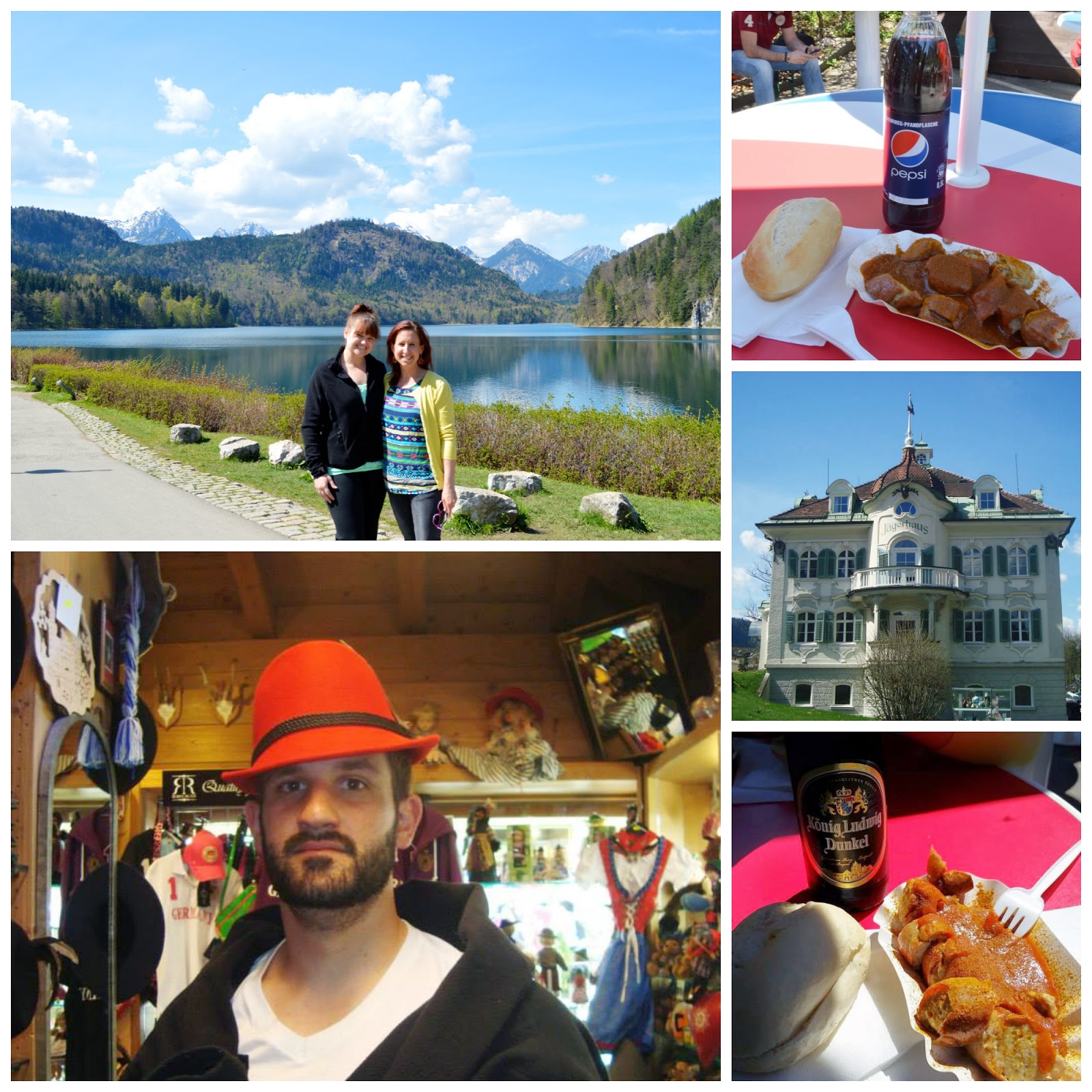 Lunch and Souvenirs in Hohenschwangau, Germany