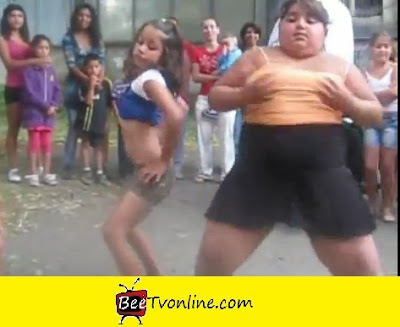 FAT YOUNG GIRL DANCING