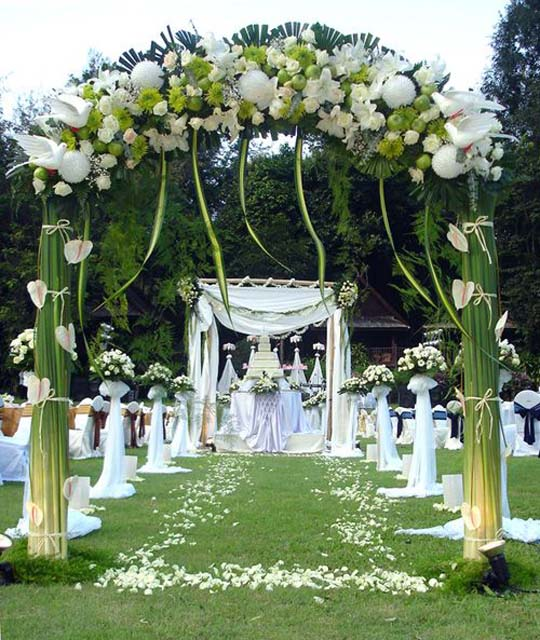 Outdoor wedding decoration ideas living room interior for Decorating for outdoor wedding