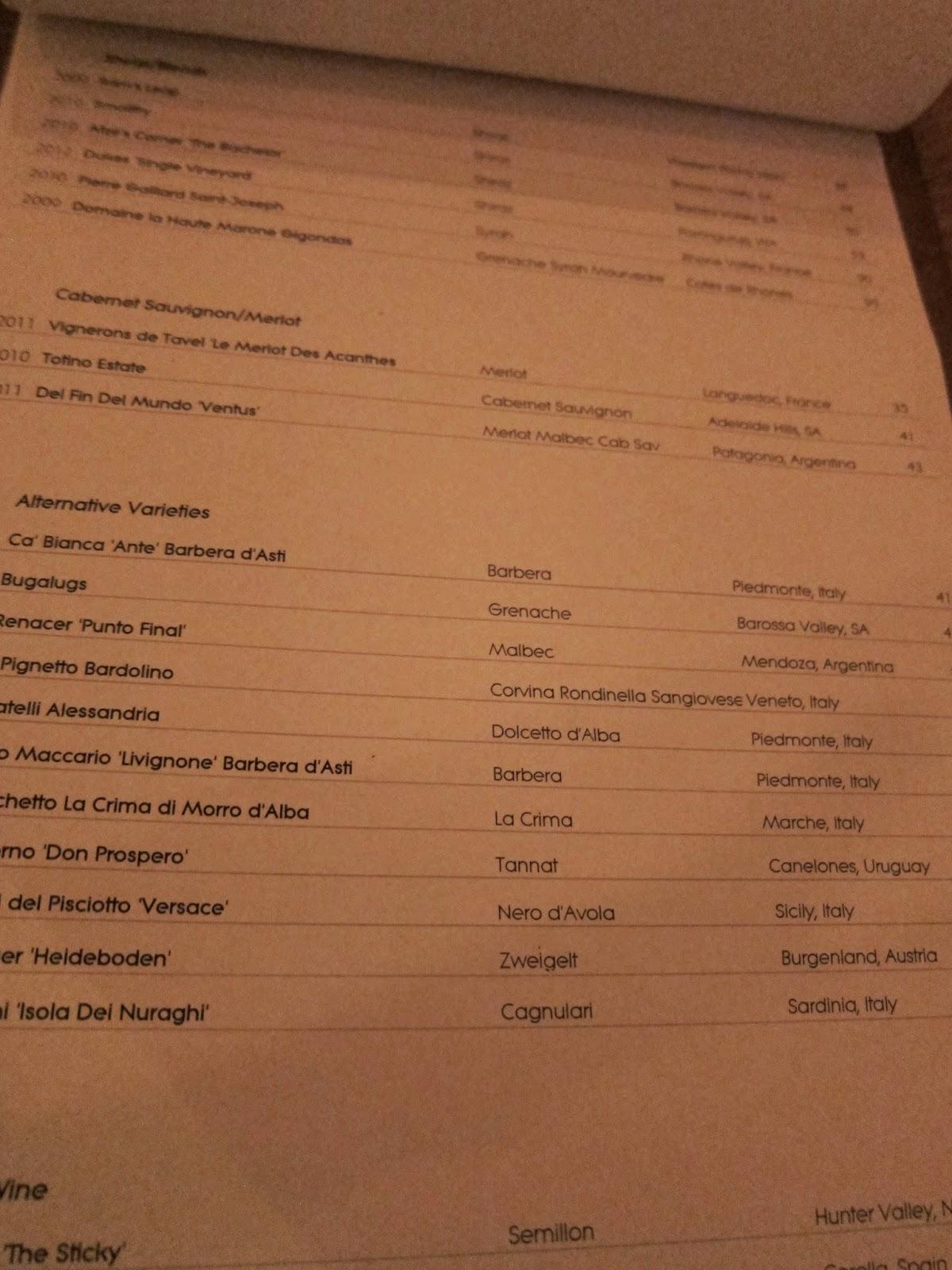 banter wine bar drinks menu image red wine