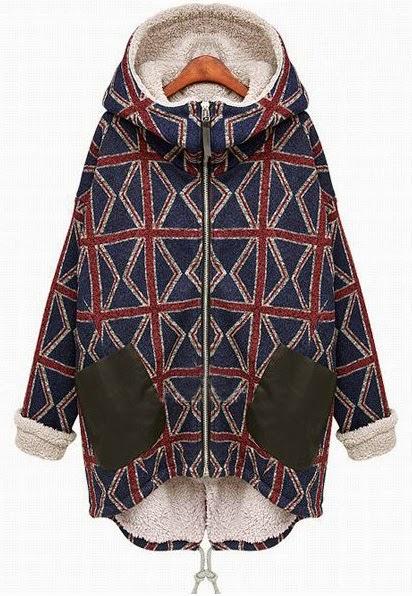 Parka largo tartán abrigo