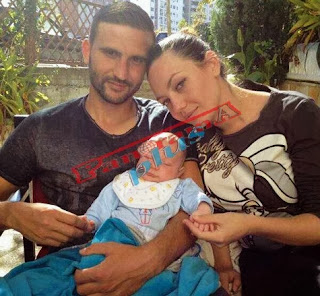 Eralda Hitaj me djalin 1 muajsh