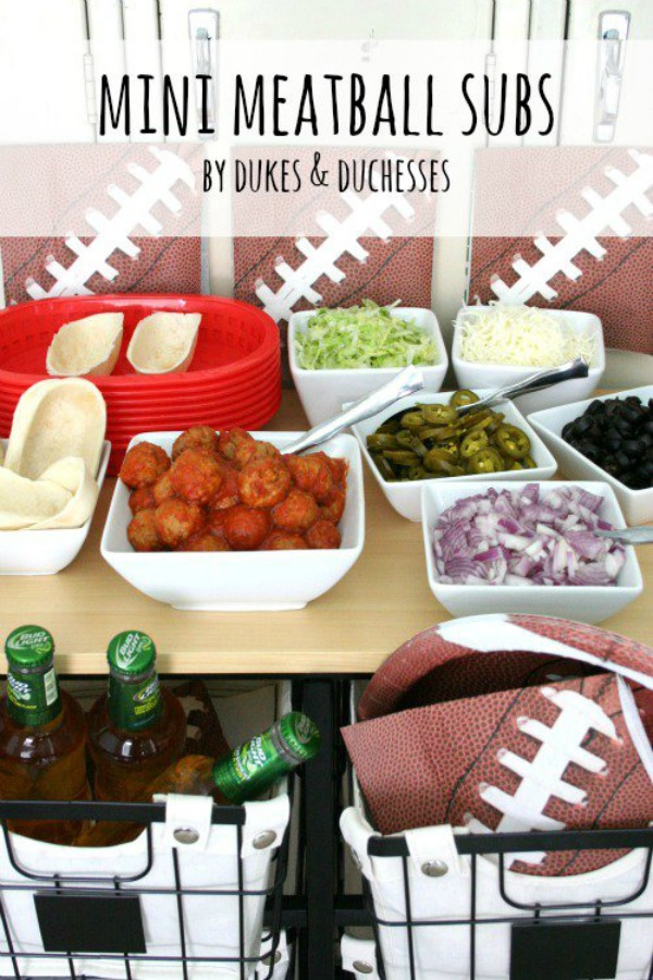 Mini Meatball Subs - Dukes and Dutchesses
